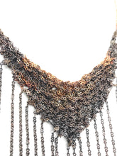 Load image into Gallery viewer, Copper fringe necklace