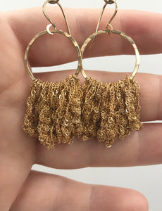 Large gold shorty hoops