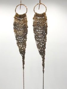 Vintage Brass ombré drop earrings