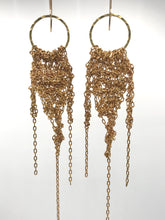 Load image into Gallery viewer, Brass fringe earrings