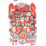 Vintage San Francisco 49ers 1989 Caricature T-shirt