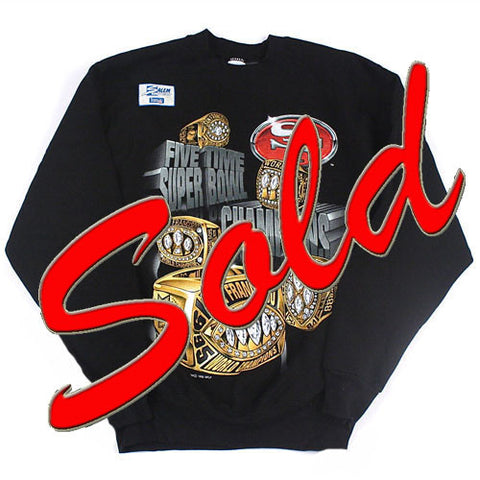 Vintage San Francisco 49ers Rings crewneck sweatshirt