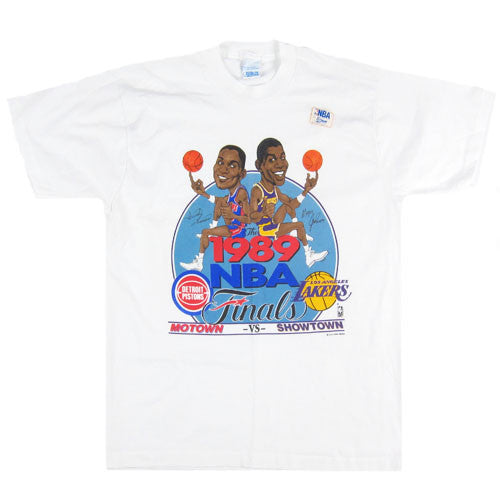 Vintage Pistons vs Lakers 1989 NBA Finals Caricature T-shirt