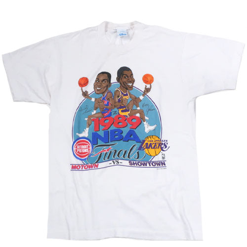 Vintage 1989 NBA Finals Caricature T-shirt