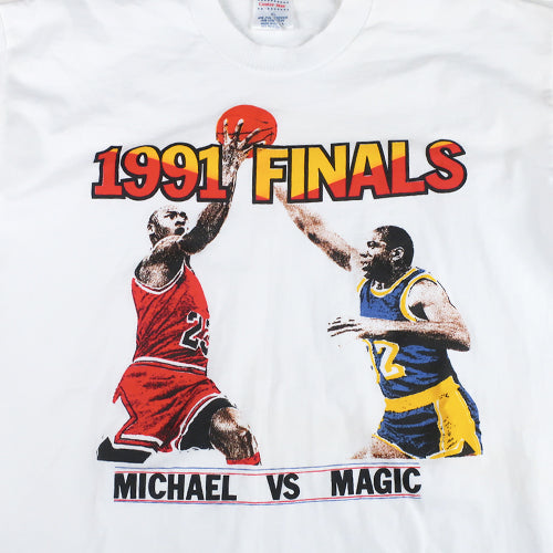 Vintage 91 Finals jordan vs Magic T-shirt