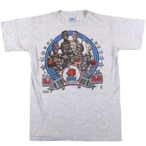 Vintage 1992 NBA All Star Caricature T-shirt