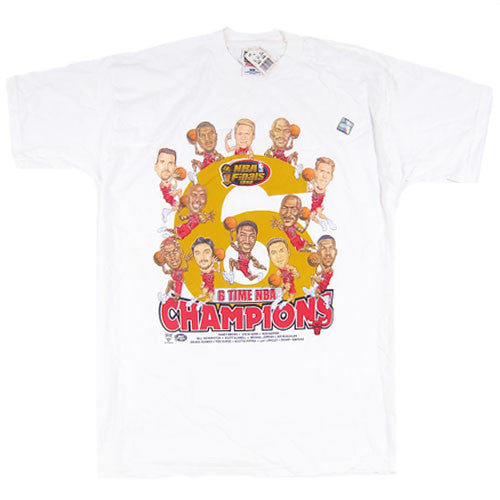 Vintage Chicago Bulls 1998 NBA Finals Caricature T-shirt NWT