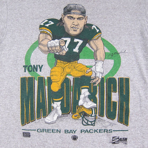 Vintage Tony Mandarich Green Bay Packers Caricature T-shirt NFL Football –  For All To Envy 90e861ef2