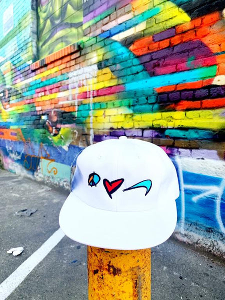 "For All To Envy ""Peace. Love. Pleasure."" Strapback Hat"