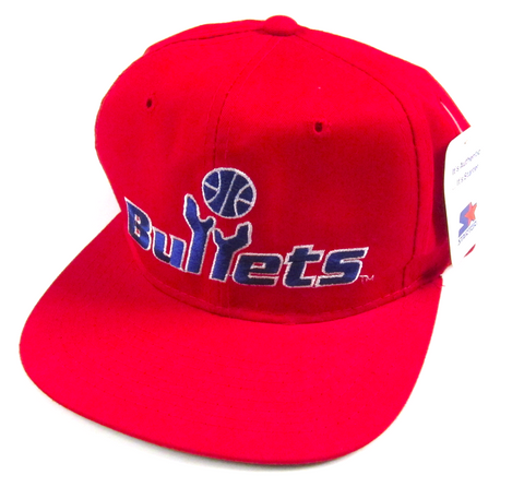 Vintage Washington Bullets Starter Snapback Hat NWT