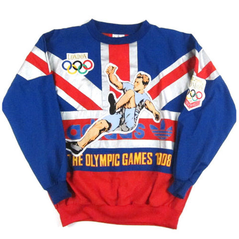 vintage adidas london olympic games pullover sweatshirt. Black Bedroom Furniture Sets. Home Design Ideas