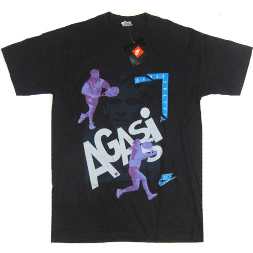 2c343199 Vintage Andre Agassi Nike T-shirt 90s Tennis Air Tech Challenge – For All To  Envy
