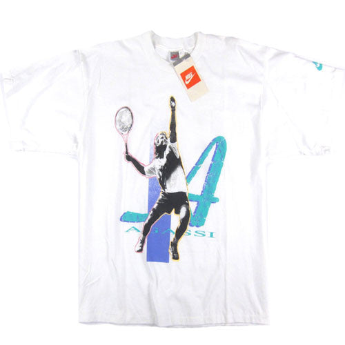 Vintage Andre Agassi Nike Tennis T-shirt NWT