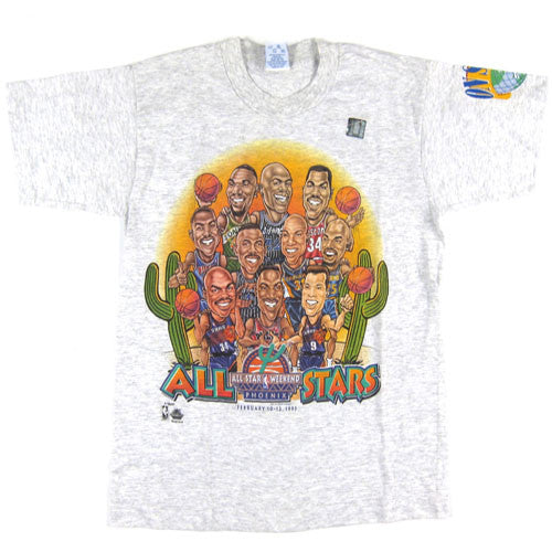 Vintage NBA All Star 1995 Caricature T-shirt