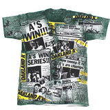 Vintage Oakland Athletics Front Page News t-shirt NWT