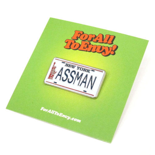 "For All To Envy ""ASSMAN"" Lapel Pin"