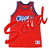 Vintage Brent Barry LA Clippers Champion Jersey