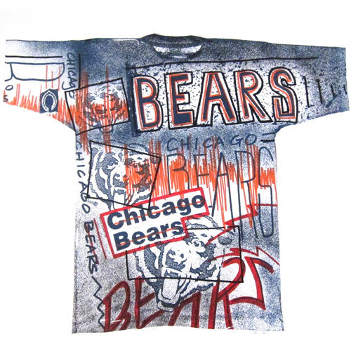 Vintage 1991 Chicago Bears All Over Print T-Shirt