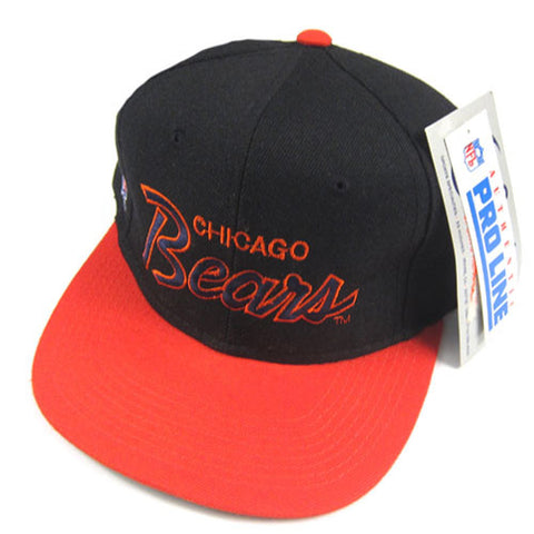 Vintage Chicago Bears Script Snapback Hat NWT