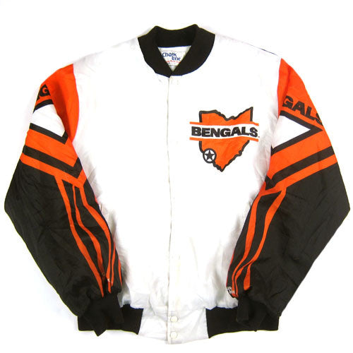 Vintage cincinnati bengals chalk line jacket nfl football for Vintage bengals t shirts