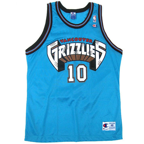 Vintage Mike Bibby Vancouver Grizzlies Champion Jersey
