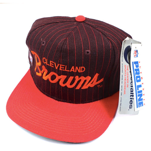 Vintage Cleveland Browns Sports Specialties Hat NWT 90s NFL Football ... 094bd428154