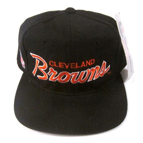 Vintage Cleveland Browns Script Snapback Hat NWT NFL Football Dawg Pound  Manziel – For All To Envy a9609472bdd3