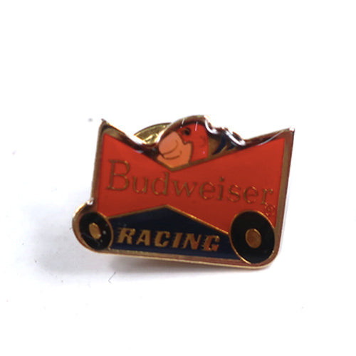 Vintage Budweiser Racing Bud Man Beer Pin