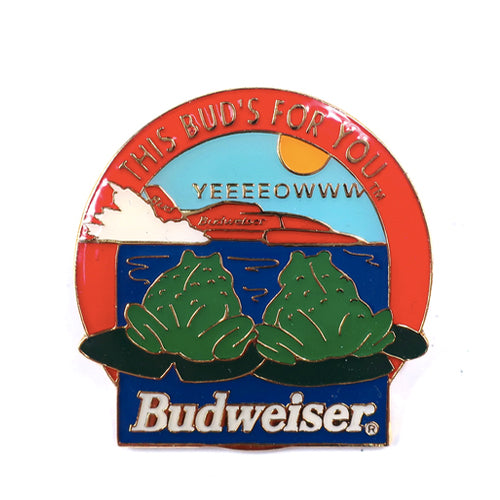 "Vintage Budweiser Frogs ""This Bud's For You"" Pin"