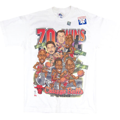 Vintage Chicago Bulls 1995-96 Caricature T-shirt