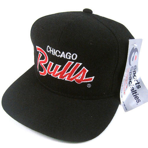 Vintage Chicago Bulls Sports Specialties Script Snapback NWT