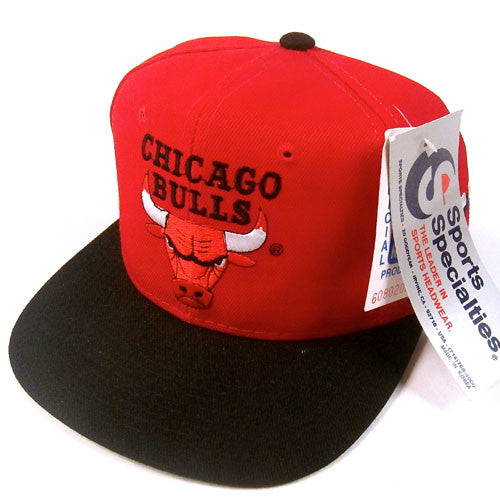 Vintage Chicago Bulls Sports Specialties Snapback Hat NWT