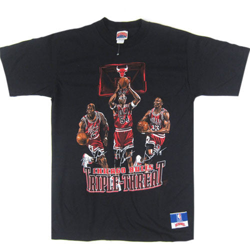 Vintage Chicago Bulls Triple Threat Jordan Pippen Grant T-shirt