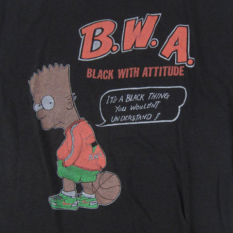 vintage bootleg bart simpson b w a t shirt for all to envy