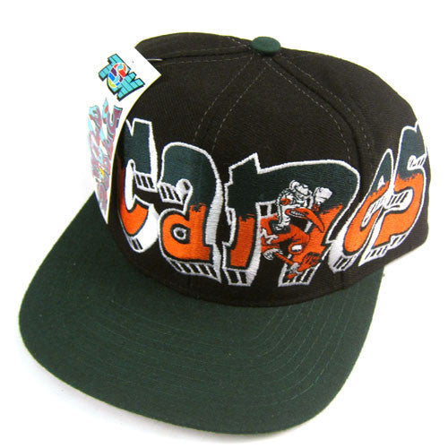 Vintage Miami Hurricanes Wild Style Snapback Hat NWT
