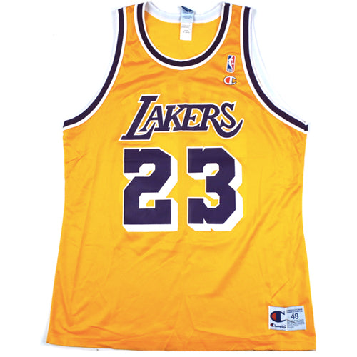 super popular 8e8f4 c4271 Vintage Cebric Ceballos LA Lakers Champion Jersey 90s NBA ...