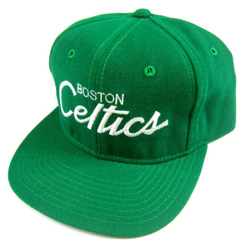 02d30553597919 Vintage Snapback Snap Back Hat Boston Celtics Sports Specialties Script  90's Wool New With Tags NWT NBA Basketball Larry Bird – For All To Envy
