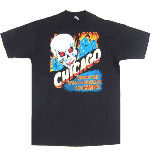 Vintage Chicago Where the Weak are Killed and Eaten T-shirt