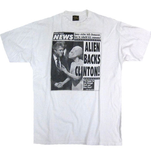 Vintage World News Alien Backs Clinton T-shirt