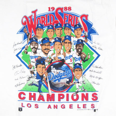 Vintage La Dodgers 1988 Caricature T Shirt Mlb Baseball