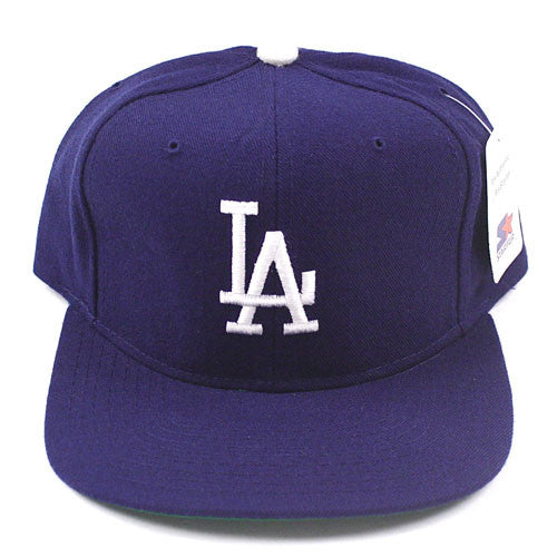 Vintage Snapback Snap Back Hat Los Angeles Dodgers Starter Logo 90's Wool New With Tags NWT MLB ...