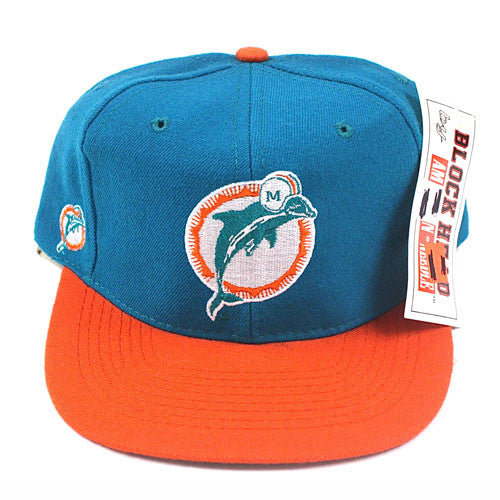 Vintage Snapback Snap Back Hat Miami Dolphins American Needle Blockhead  Logo 90 s Wool New With Tags NWT NFL Football Dan Marino – For All To Envy 0e3f6f81a2ce