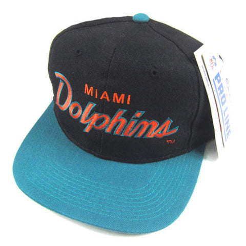 Vintage Miami Dolphins Script Snapback Hat NWT