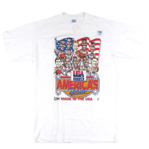 Vintage 1992 Basketball USA Dream Team Caricature T-shirt