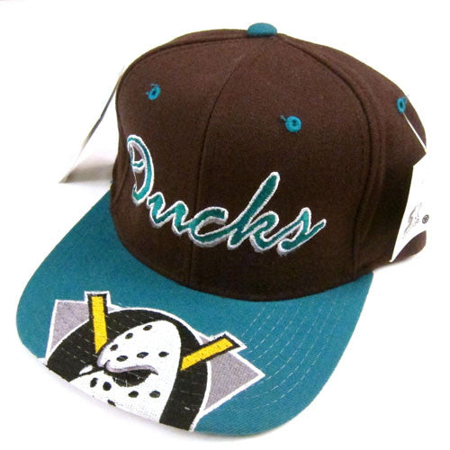 0f9d3d24a192a Vintage Anaheim Mighty Ducks Starter Snapback Hat 90s NHL Hockey ...