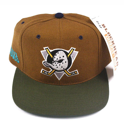 Vintage Snapback Anaheim Mighty Ducks American Needle Blockhead 90's