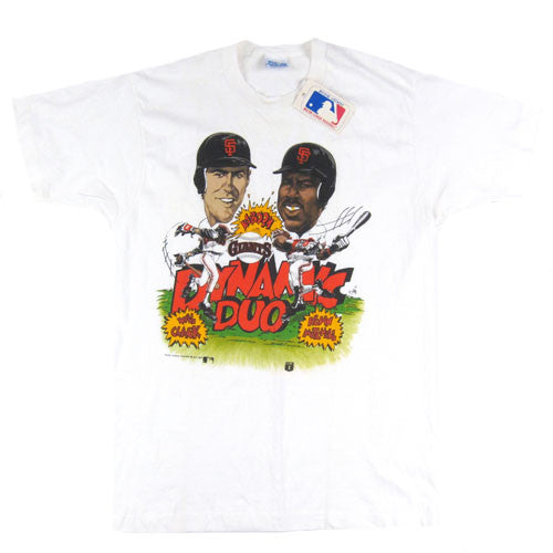 Vintage San Francisco Giants Dynamic Duo Caricature T-shirt
