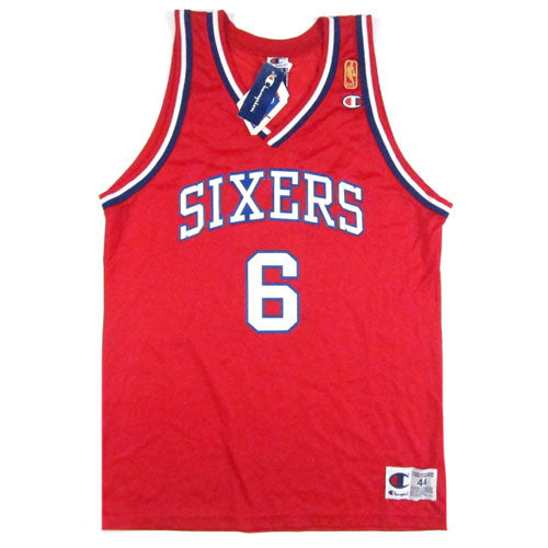 Vintage Julius Erving Philadelphia Sixers NBA@50 Champion Jersey