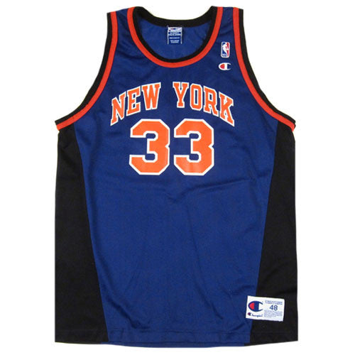 sports shoes c5a70 8eaa3 Vintage Patrick Ewing New York Knicks Champion Jersey