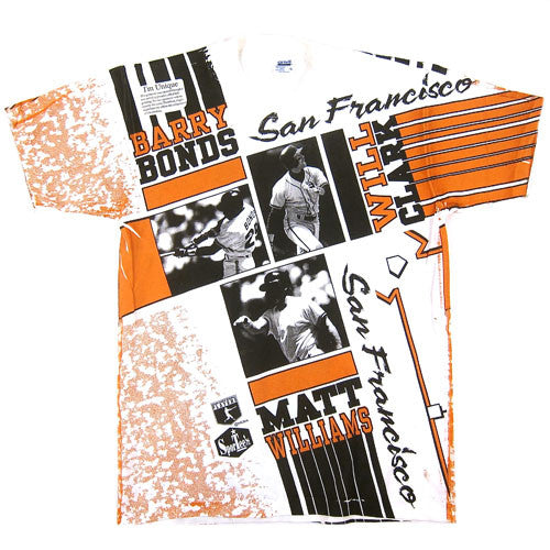 Vintage SF Giants Bonds Clark Williams T-shirt NWT